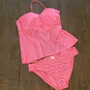Hula Honey- Hot Pink 2 piece bathing suit